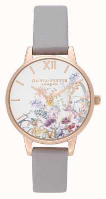 Olivia Burton | женская | заколдованный сад | серый лиловый кожаный ремешок | OB16EG150