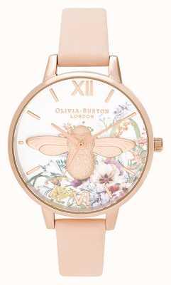 Olivia Burton | женская | заколдованный сад | 3d пчела | ремешок из персиковой кожи | OB16EG151