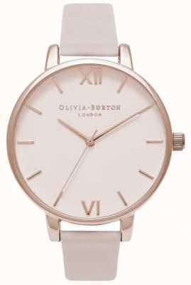 Olivia Burton | женская | большой румяна циферблат | румяна кожаный ремешок OB16BD95