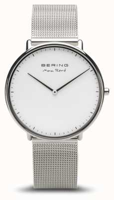 Bering   макс рене   мужское полированное серебро   браслет из серебряной сетки   15738-004