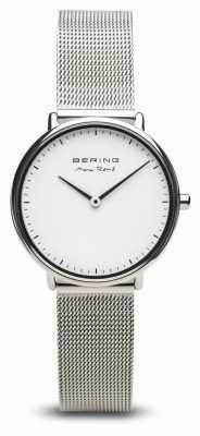 Bering | макс рене | женское полированное серебро | браслет из стальной сетки | 15730-004