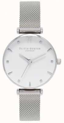 Olivia Burton | женская | социальная бабочка | белый циферблат | сетчатый браслет OB16MB12