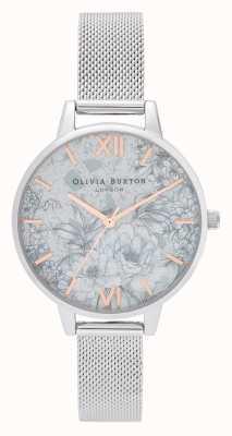 Olivia Burton | женская | цветочные терраццо | браслет из серебряной сетки | OB16TZ06
