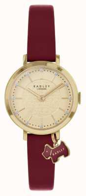 Radley Улица Селби | бордовый кожаный ремешок | золотой циферблат | RY2862