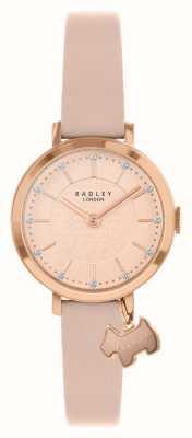 Radley Улица Селби | розовый кожаный ремешок | циферблат из розового / розового золота | RY2864