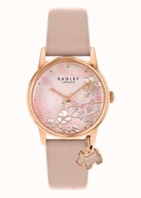 Radley Ботанический цветочный | обнаженный кожаный ремешок | розовый цветочный циферблат | RY2884