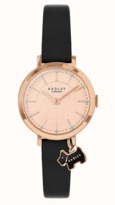 Radley Улица Селби | черный кожаный ремешок | циферблат из розового золота | RY2928