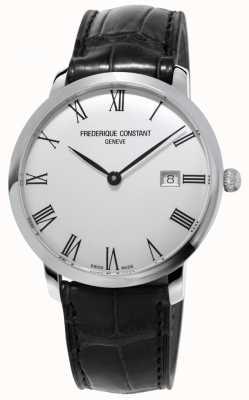 Frederique Constant Мужская | стройная | автоматический | черная кожа | серебряный циферблат FC-306MR4S6