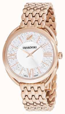 Swarovski | кристаллический глэм | браслет из розового золота | серебряный циферблат 5452465