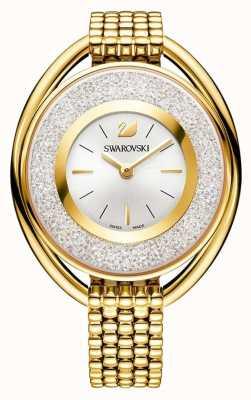 Swarovski Кристаллический | овальный | золотой браслет из пвд | серебряный циферблат 5200339