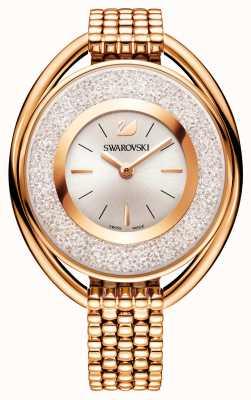 Swarovski | кристаллический | овальный | браслет с покрытием из розового золота | белый циферблат 5200341