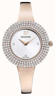 Swarovski | хрустальная роза | браслет оттенка розового золота | серебряный циферблат | 5484073