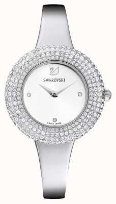 Swarovski | хрустальная роза | браслет из нержавеющей стали | белый циферблат | 5483853