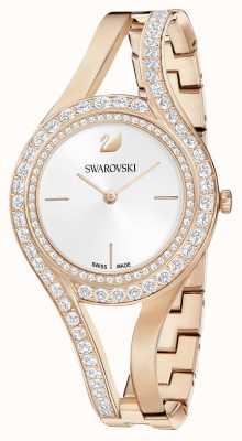 Swarovski | вечный | стальной браслет из розового золота | хрустальный набор | белый 5377576