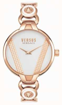 Versus Versace | Сен-Жермен | розовое золото тон из нержавеющей стали | белый циферблат VSPER0419