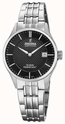 Festina | женская швейцарская | браслет из нержавеющей стали | черный циферблат F20006/4