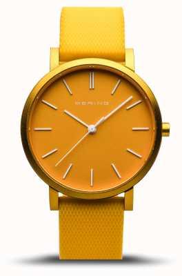 Bering | истинное сияние | желтый резиновый ремешок | желтый циферблат | 16934-699