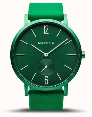 Bering | истинное сияние | зеленый резиновый ремешок | зеленый циферблат | 16940-899