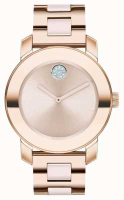 Movado Жирный | браслет из розового золота | циферблат из розового золота | 3600639