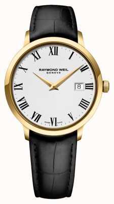 Raymond Weil Мужская | токката | черный кожаный ремешок | белый циферблат 5488-PC-00300
