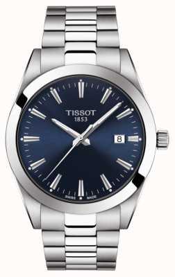 Tissot | джентльмен | браслет из нержавеющей стали | синий циферблат | T1274101104100