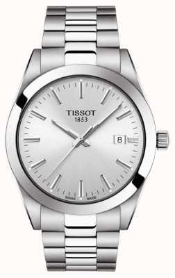 Tissot | джентльмен | браслет из нержавеющей стали | серебряный циферблат | T1274101103100