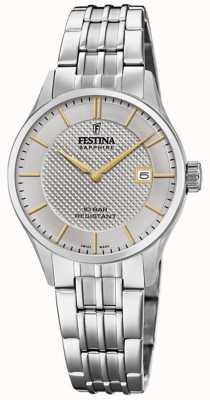 Festina | женская швейцарская | браслет из нержавеющей стали | серебряный циферблат F20006/2