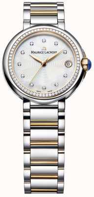 Maurice Lacroix Fiaba женский бриллиант двухцветный перламутр FA1004-PVP23-170-1
