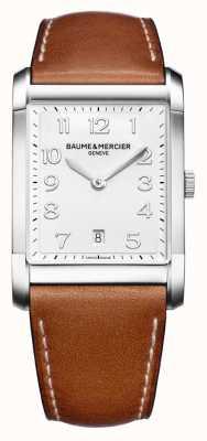 Baume & Mercier Мужская хэмптон | коричневый кожаный ремешок | белый циферблат BM0A10153