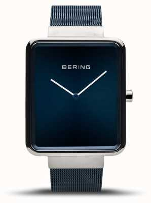 Bering | мужская классика | синий сетчатый браслет | синий циферблат | 14533-307