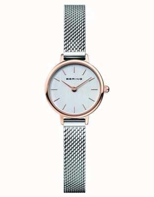 Bering | женская классика | браслет из стальной сетки | серый циферблат | 11022-064