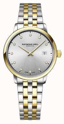 Raymond Weil | женская токката | двухцветная нержавеющая сталь | серебряный циферблат | 5985-STP-65081
