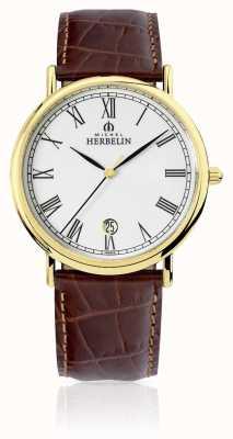 Michel Herbelin Мужская классика | коричневый кожаный ремешок 12248/P01MA