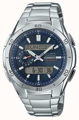 Casio Мужская волна Ceptor синий циферблат из нержавеющей стали WVA-M650D-2AER
