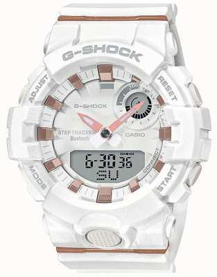 Casio | G-Shock G-отряд | белый резиновый ремешок | блютуз умный | GMA-B800-7AER