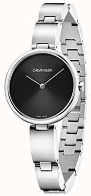 Calvin Klein | женский браслет из нержавеющей стали | черный циферблат | K9U23141