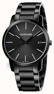 Calvin Klein | мужской город | черный браслет из нержавеющей стали | черный циферблат | K2G2G4B1