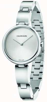 Calvin Klein | женский браслет из нержавеющей стали | серебряный циферблат | K9U23146