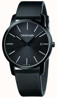 Calvin Klein | мужской город | черный кожаный ремешок | черный циферблат | K2G2G4CX