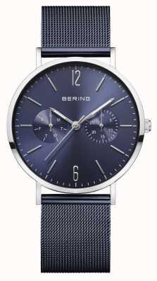 Bering | женская классика | синий сетчатый браслет | синий циферблат | 14236-303
