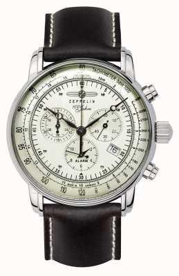 Zeppelin 100 лет | швейцарский кварц | хронограф 8680-3