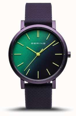 Bering | истинное сияние | фиолетовый резиновый ремешок | зеленый фиолетовый циферблат | 16934-999