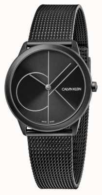 Calvin Klein Унисекс | минимальный | черная сетка из пвд | черный циферблат K3M5245X