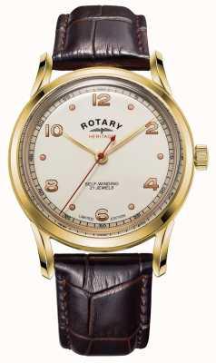 Rotary Мужская | ограниченная серия | наследие | коричневый кожаный ремешок GS05143/03