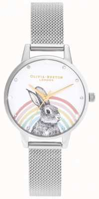 Olivia Burton Радужный кролик, золотая и серебряная сетка OB16WL89