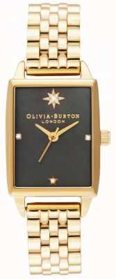 Olivia Burton | небесный обманщик | черный перламутровый циферблат | золотой браслет OB16GD60