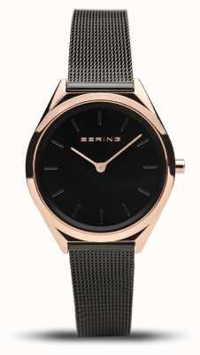 Bering   унисекс   ультра-тонкий   черный сетчатый браслет   17031-166