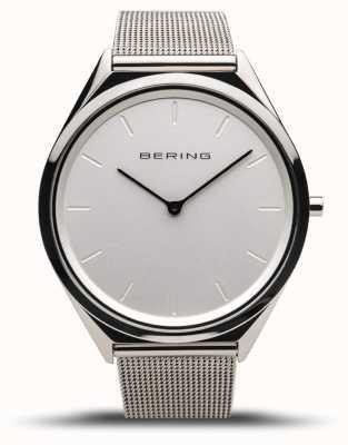 Bering | унисекс | ультра-тонкий | браслет из полированной серебряной сетки | 17039-000