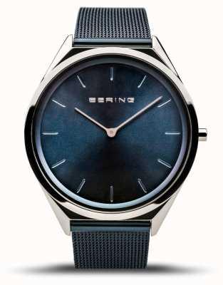Bering | унисекс | ультра-тонкий | синий сетчатый браслет | 17039-307
