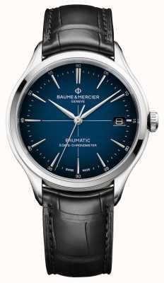Baume & Mercier Клифтон | бауматик | кадрановый синий циферблат | черный ремешок M0A10467